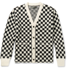 AMIRI Checked Cashmere and Virgin Wool-Blend Cardigan