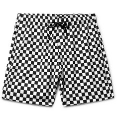 AMIRI Mid-Length Checkerboard Swim Shorts