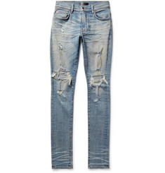 AMIRI Thrasher Skinny-Fit Distressed Stretch-Denim Jeans