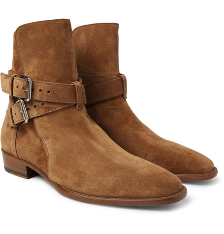 Suede Jodhpur Boots - Camel
