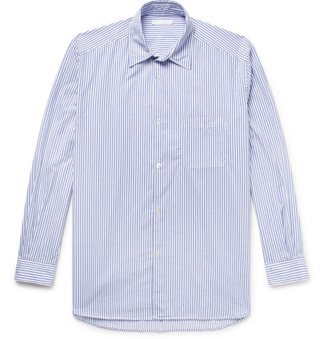 Our Legacy Striped Cotton-twill Shirt In Blue