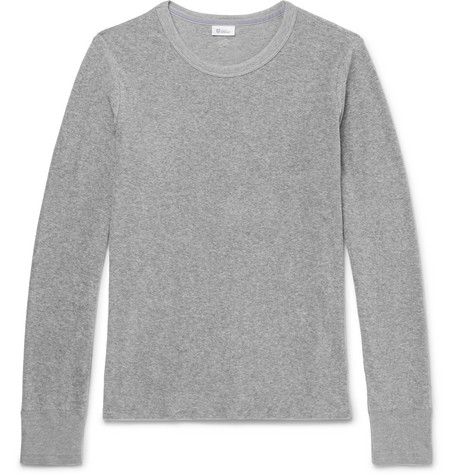 Hartmut Cotton-terry T-shirt - Light gray