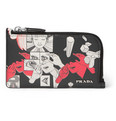 Prada - + James Jean Printed Leather Zipped Cardholder
