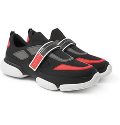 Prada - Mesh, Rubber and Leather Sneakers