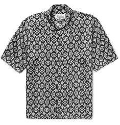 Maison Margiela Camp-Collar Printed Voile Shirt