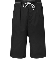 Maison Margiela Wide-Leg Cotton Drawstring Shorts