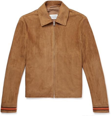 Contrast-trimmed Suede Blouson Jacket - TanMaison Martin Margiela réal Extrêmement Sortie Parcourir Réduction Marque Nouveau Débouché Unisexe vIUz1FO8