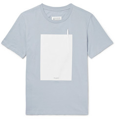 Maison Margiela Cotton-Jersey and Shell T-Shirt