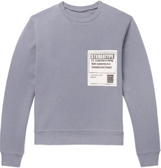 Maison Margiela Appliquéd Loopback Cotton-Jersey Sweatshirt