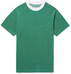 Maison Margiela Striped Cotton-Blend Terry T-Shirt