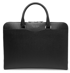 Hugo Boss Signature Slim Cross-Grain Leather Briefcase