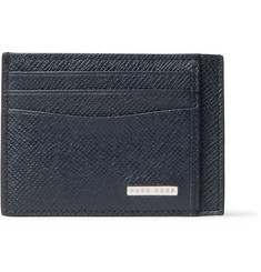 Hugo Boss Signature Cross-Grain Leather Cardholder