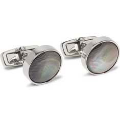 Hugo Boss T-Kendal Gunmetal-Tone Mother-of-Pearl Cufflinks
