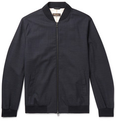 Loro Piana Storm System Stretch-Wool Bomber Jacket