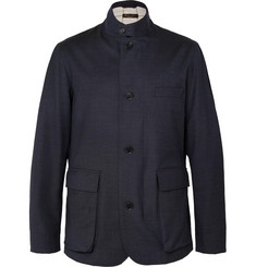 Loro Piana Roadster Storm System Stretch Wool-Blend Jacket