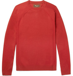 Loro Piana Girocollo Rain System Stretch-Virgin Merino Wool Sweater