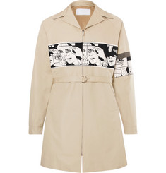 Prada Slim-Fit Printed Panelled Cotton-Canvas Coat