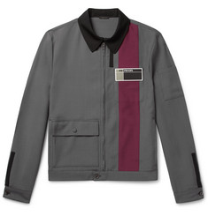 Prada Colour-Block Wool and Mohair-Blend Blouson Jacket