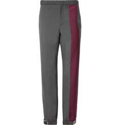Prada Slim-Fit Tapered Two-Tone Wool and Mohair-Blend Trousers