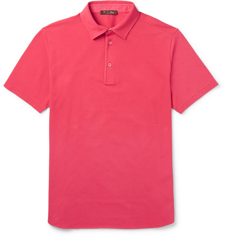 Marketable Cotton-piqué Polo Shirt Loro Piana Low Shipping Fee Cheap Price Lowest Price For Sale Purchase Cheap Price Sale Online Shop DubicfLJA