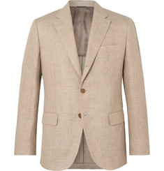 Loro Piana Sand Virgin Wool and Hemp-Blend Hopsack Blazer