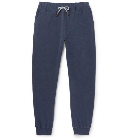 Slim-fit Tapered Mélange Stretch-cotton Jersey Sweatpants Loro Piana kypCcQROXe