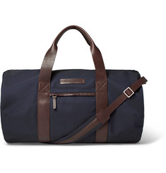 Brunello Cucinelli Leather-Trimmed Shell Duffle Bag