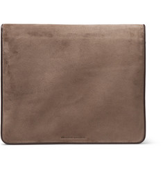 Brunello Cucinelli Suede and Leather-Trimmed Portfolio
