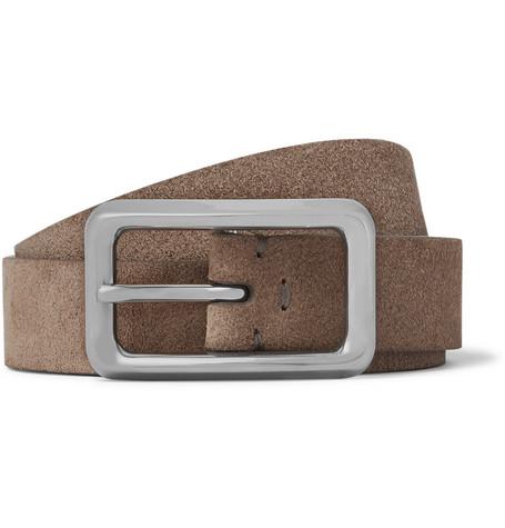 2.5cm Beige Suede Belt Brunello Cucinelli