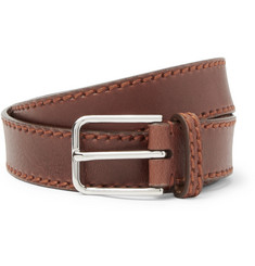 Brunello Cucinelli - 3cm Brown Leather Belt