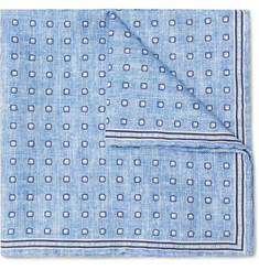 Brunello Cucinelli - Polka-Dot Silk And Cotton-Blend Pocket Square