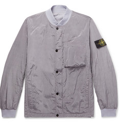 Stone Island Reversible Garment-Dyed Nylon-Metal Bomber Jacket
