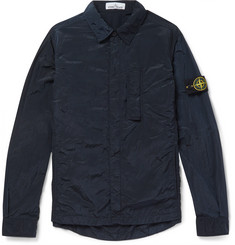 Stone Island Garment-Dyed Shell Shirt Jacket