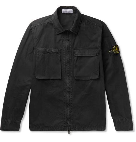 b9883dea9 Stone Island Brushed-Cotton Canvas Jacket In Black   ModeSens