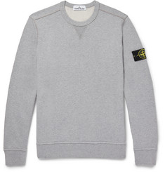 Stone Island Loopback Cotton-Jersey Sweatshirt