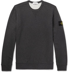Stone Island Slim-Fit Loopback Cotton-Jersey Sweatshirt