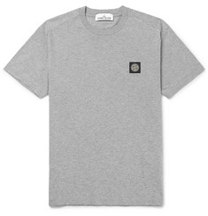 Stone Island Slim-Fit Mélange Cotton-Jersey T-Shirt
