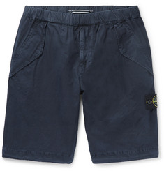 Stone Island Brushed Cotton-Canvas Shorts