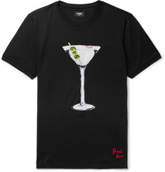 Fendi Martini-Print Cotton-Jersey T-Shirt