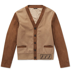 Fendi Twill-Panelled Suede Jacket