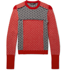 Alexander McQueen Slim-Fit Fair Isle Patchwork Wool and Cashmere-Blend Sweater