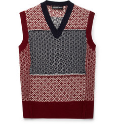 Alexander McQueen Slim-Fit Fair Isle Patchwork Wool and Cashmere-Blend Sweater Vest