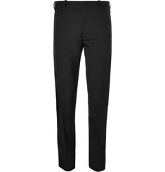 Alexander McQueen Black Slim-Fit Silk Satin-Trimmed Wool-Blend Tuxedo Trousers