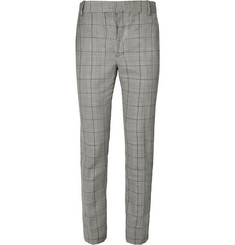 Alexander McQueen - Prince of Wales Checked Wool and Mohair-Blend Suit Trousers