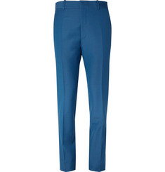 Alexander McQueen - Cobalt Slim-Fit Wool and Mohair-Blend Suit Trousers
