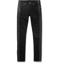 Alexander McQueen - Skinny-Fit Striped Stretch-Denim Jeans