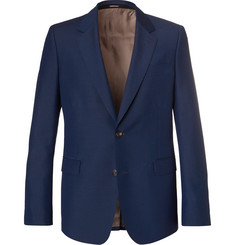 Alexander McQueen Navy Wool and Mohair-Blend Suit Jacket