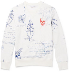 Alexander McQueen Explorer Embroidered Loopback Cotton-Jersey Sweatshirt