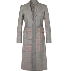 Alexander McQueen Slim-Fit Prince of Wales Checked Wool and Cashmere-Blend Coat