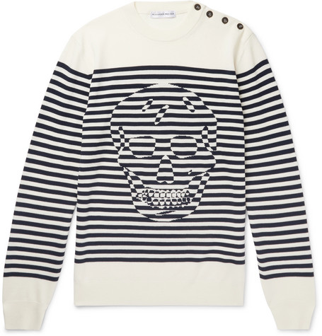 Striped Wool Sweater by Alexander Mc Queen